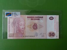 Congo 50 Francs (UNC) 全新 刚果 50 法郎 带国旗