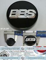 BBS Felgendeckel Embleme center caps schwarz / chrom 56 mm 09.24.257