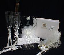 LOVE IS..... PERSONLIZED  Wedding Cake topper LOT glasses knife server set book