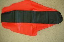 FLU  BLACK/RED PLEATED GRIPPER SEAT COVER HONDA CRF450R CRF450 2005  2006 07 08
