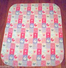 "Baby Print Micro Fleece Print Kids/ Baby Fleece Blanket 34"" X 28 1/2"" Very soft!"