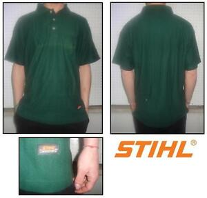 Polo Chainsaw Sweatshirt Woodman Motorsage STIHL TIMBERSPORTS Green L