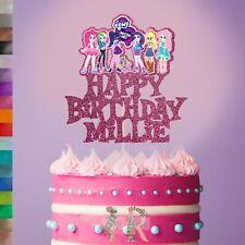 Custom Personalised Equestria Girls My Little Pony Inspired Birthday Cake Topper