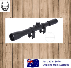4x20 Air Rifle Scope With Free Rings 3/8 (11mm) Dove Tail  hunting scope