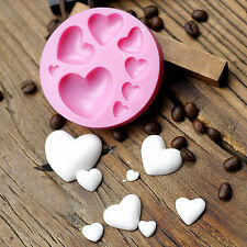 3D Love Heart Fondant Mold Silicone Cake Decorating Craft Sugar Chocolate Mould