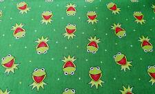 Kermit der Frosch 10 X 112 cm Baumwollstoff 130 g/qm Muppet Show Krümelmonster