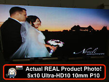 "2 SIDED OUTDOOR FULL COLOR LED SIGN 5x10 126""L X 63""H PROGRAMMABLE WIFI P10 10mm"