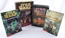 4-LOT MIXED STAR WARS BOOKS JEDI APPRENTICE #2/#13 JEDI QUEST DARK FORCE RISING