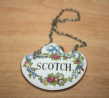 Vintage Crown Staffordshire Bone China Scotch Decanter Label