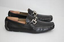 Salvatore Ferragamo 'Parigi' Moccasin Loafers Gancini Bit - Black - 9.5 EE (X40)