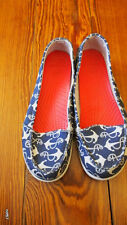 BALLERINES  BLEUES MOTIF ANCRE MARINE FEMME TAILLE 41 MARQUE CROC'S