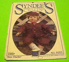 "Syndee'S Crafts Ltd. ""Eton Charlee"" Stock No. 24007 Sizes 21"", 16"", 10"" (1991)"
