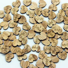 Wholesale 100PC Wooden Love Hearts Craft Shape Wedding Christmas Tree Decoration