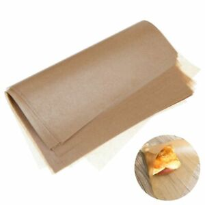 50Pcs Brown Wax Tissue Paper Wedding Xmas DIY Candy Sweets Food Gift Wrapping