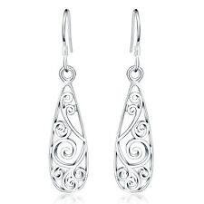 Fashion Silver Cute Classic 925 Charms retro Party women Earring jewelry NEW