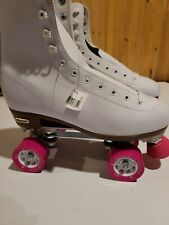 Chicago Ladies Classic Quad Roller Skates- White, US Size 10