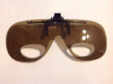 OPTIX CLIP ON FLIP UP SUNGLASSES With Magnifiers ( Amber Lens )