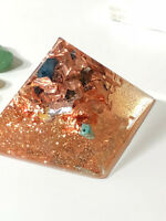ORGONE PYRAMIDS - HAND MADE TO ORDER - CRYSTALS & COPPER 2X2.5in GIZA STYLE