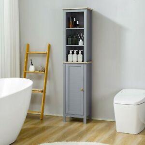 Kleankin Freestanding Bathroom Storage Cabinet Space Saver w/ Adjustable Shelf