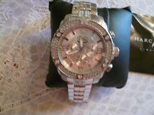 MARC ECKO Gent's Wristwatch 00-829-1972 SILVER WITH RHINESTONES BRAND NEW IN BOX