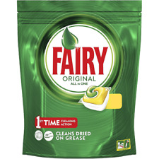 40 wash pack of Fairy Original All-in-One Dishwasher Lemon Capsules, 40 Washes