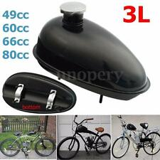 Motorized Bicycle 3L Fuel Gas Tank W/ Cap Black For 80 60 66 49cc Engine E03074