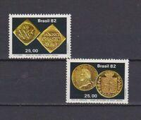 s19072) BRASILE BRAZIL  MNH** Nuovo** 1982 Central bank museum 2v