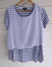 Threadz Women's Blue & White Stripe Top - Size M