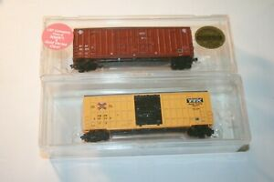 N Scale LBF boxcars TTX, ATSF  boxcars TWO CARS