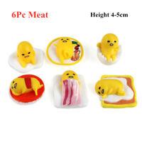 6Pc/Set Mini Gudetama Lazy Egg Collection Figures Cute Mascot Table Pet Kid Gift