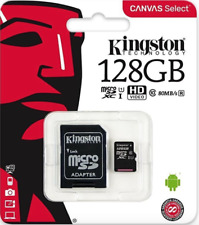 Kingston 128gb Micro SD SDXC Memory Card UHS 1 Class 10 With Adapter Phone Camer