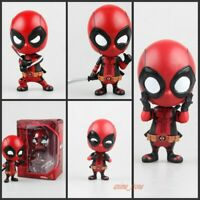 Deadpool Action Figure  Bobble-Head Red  Collectible Model Dolls Toy Deadpool
