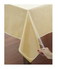 Clear Vinyl Tablecloth Protectors. White Hemmed Border. Several Sizes  Available