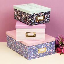 Ditsy Floral Set of 3 Storage Boxes Mums Important Things
