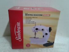 New Sunbeam Mini Portable Sewing Machine AC Adapter Foot Pedal And Over 75 Piece