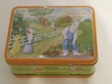 Godiva Easter Springtime Tin Box Rabbit Mouse Duck