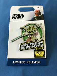 STAR WARS  Disney Pin YODA MAY THE 4th BE WITH YOU 2020  LR New on card