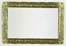 "Victorian Scrap Die Cut German Dresden Gold Paper Rectangle Frame 4"" x 6"" Craft"