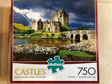 Buffalo Majestic Castles EILEAN DONAN CASTLE SCOTLAND 750 Pc Puzzle Pre-owned