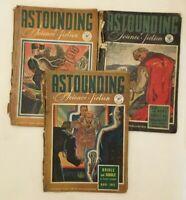 3 x Vintage Astounding Science Fiction Magazines 1942