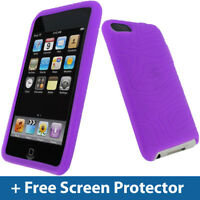 Purple Silicone Case for Apple iPod Touch 2nd 3rd Gen 2G 3G iTouch Skin Cover