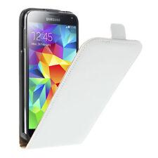 Samsung Galaxy S5 Neo Handy Tasche Flip Case echt Leder Aufklapp Etui weiß