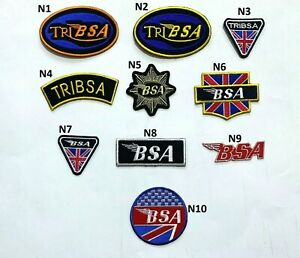 BSA Tribsa Motorcycle Bike Biker Patch Iron On Sew On Jacket Jeans Leather New