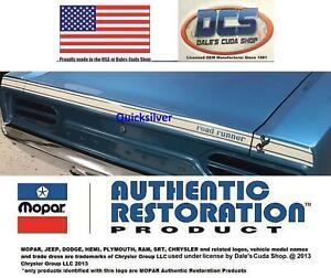 1970 Plymouth Road Runner Deck Lid White Reflective Stripe Kit