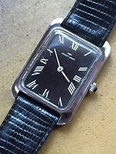 Vintage Mano-tanque Jaquet Droz Reloj para hombre de vestir de bobina