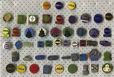VINTAGE OLD GAS FUEL OIL INA CROATIA COMPANY PIN BADGE LOT 50 PIECES!!!