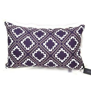 "Hallmart Collectibles (HMC) Geo-Print 12"" x 20"" Decorative Pillow - Purple"