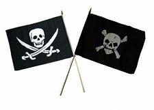 "12x18 12""x18"" Wholesale Combo Pirate Calico Jack & Crossbones Skull Stick Flag"