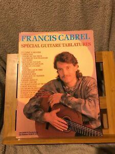 Francis Cabrel Spécial Guitare tablatures partition chant accords ed. Chandelle