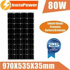 New 80W 12V Mono Solar Panel Portable Camping Caravan Power Generator Battery